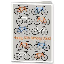 personalised bicycle birthday card 18th 21st folksy