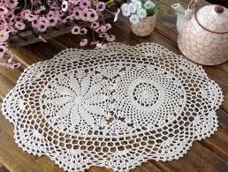 napperon de cuisine chaude coton diy place table tapis tissu dentelle ronde pad crochet