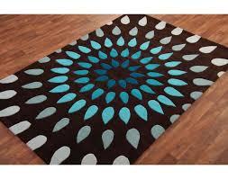 teal and brown rug rug designs