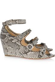 christian louboutin jane 70 python wedge sandals my color fashion
