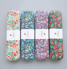 Dstockage Papeterie Fleurs De Fer En Métal Crayon Cas Pour Stylo De Stockage De