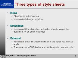 sheet types project 8 creating style sheets ppt download