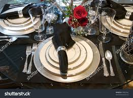 Dining Room Place Settings Image Formal Dining Room Place Setting Stock Photo 10962592