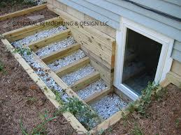Replacing A Basement Window by Egress Window Well Repair