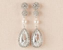 gold earrings for wedding gold bridal earrings etsy