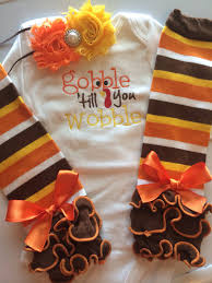 baby thanksgiving baby fall gobble
