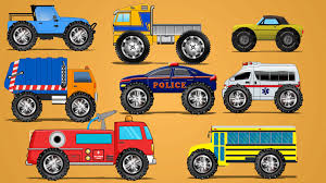 monster trucks kid video street vehicles monster truck learn vehicles kids video youtube