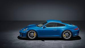 porsche blue gt3 911 gt3 with touring package celebrates its world premiere at the iaa