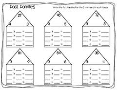multiplication fact families worksheets u0026 free math worksheets and