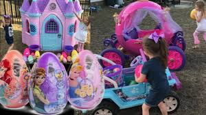 jeep easter bunny disney princess carriage castle easter egg hunt frozen jeep