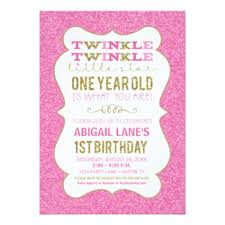 pink one year old invitations u0026 announcements zazzle co uk