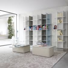 modular bookcase high contemporary lacquered wood oka by