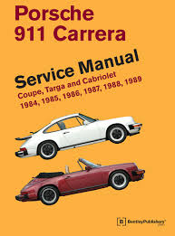 porsche 911 carrera service manual 1984 1985 1986 1987 1988