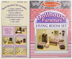 Furniture Living Room Set by Buy Melissa U0026 Doug 2581 Doll House Furniture Living Room Set