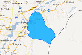 sukkur map administrative area of sukkur pakistan ikimap