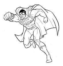 fantastic superman coloring superman cartoon