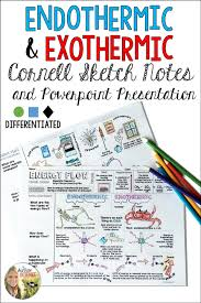 endothermic exothermic cornell doodle notes with powerpoint or