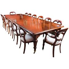 antique victorian dining table and 14 chairs circa 1850 at 1stdibs