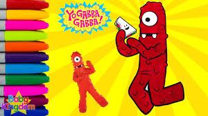 yo gabba gabba coloring book episode muno colouring pages kids