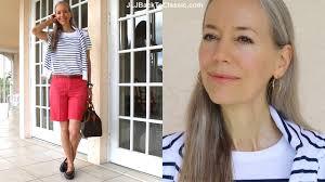 preppy for women over 50 classic fashion style over 40 50 preppy stripe sweater coral
