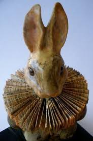 paper mache bunnies papier mache bunny with folded paper collar by shellbell