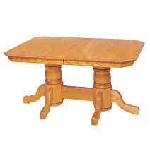 double pedestal dining room table by keystone
