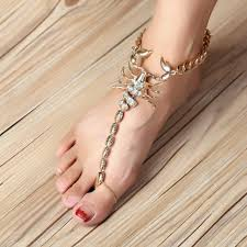 ankle bracelet jewelry images High quality scorpion ankle bracelet barefoot sandals foot jewelry jpg