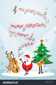 santa claus snowman reindeer stock vector 334950869