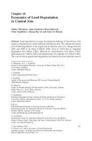 economics of land degradation in central asia springer