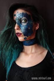 prosthetic halloween mask dragon leather scales mask mermaid costume fantasy