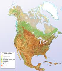 Maps North America by Large Detailed Human Impact Map Of North America North America