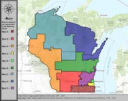 Wisconsin State Map by Wisconsin U0027s Congressional Districts Wikiwand