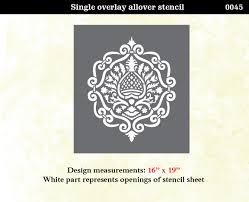 stencil boss moroccan damask modern designer allover pattern