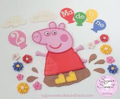 peppa pig decorations peppa pig cake decorations custom peppa pig fondant cake d flickr