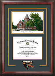 of alabama diploma frame of alabama birmingham spencer honors house lithograph