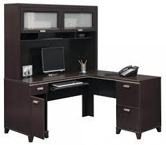 walnut corner computer desk office desk with hutch l shaped u2013 netztor me
