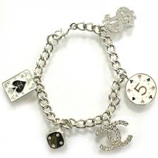 bracelet lucky charm images Chanel metal crystal lucky charm bracelet silver wynn exclusive 22220 jpg