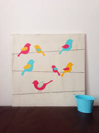Nursery Bird Decor Birds On A Wire Bird Nursery Woodland Nursery Wood Wall