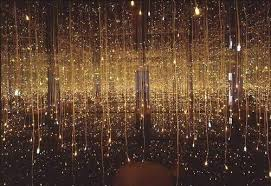 background falling gold lights magical surreal image