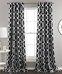 White And Black Damask Curtains Amazon Com Venetian Damask Flock Faux Silk Curtain Panel 96 Inch