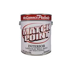 Interior Flat Paint Mccormick Match Point Interior Latex Flat Paint Shell White 5