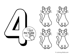 numbers coloring pages kindergarten 4 numbers coloring pages for kids printable free digits coloring