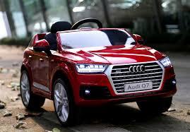 audi q7 audi q7 licensed kids electric ride on car metallic red