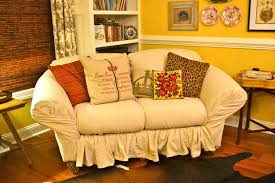 Loose Slipcovers For Sofas by Ediblecreativity Tuck Pin Done No Sew Loveseat Slipcover In 30