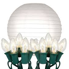 Patio String Lights White Cord by Amazon Com Lumabase 24010 10 Count Electric String Lights With