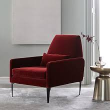 Red Living Room Chair by Living Room Chairs West Elm