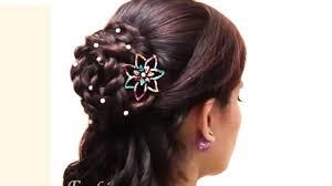 fan and sock bun hair tutorial video dailymotion braided bun hairstyle easy lace braid bun juda hairstyle