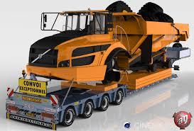 volvo trailer 4 axles doll trailer with volvo dumper v1 3d model in truck 3dexport
