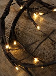 brown vine garland 6 ft battery operated warm white