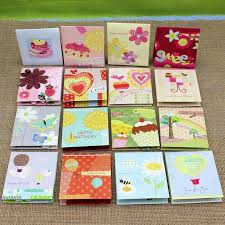 greeting cards wholesale 16 pieces lot exquisite small cards wholesale promotional